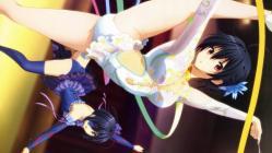 169268993 chuunibyou_demo_koi_ga_shitai! cleavage eyepatch ikeda_kazumi leotard takanashi_rikka takanashi_touka thighhighs