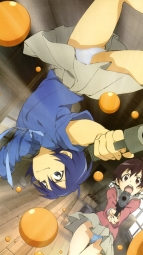 266608 gun kashima_sonora pantsu seifuku shimapan stella_jogakuin_koutouka_c3-bu umeshita_manami yamato_yura