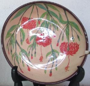 フウリンブッソウゲの深皿