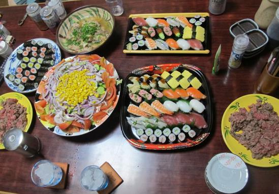 お寿司、石垣牛他