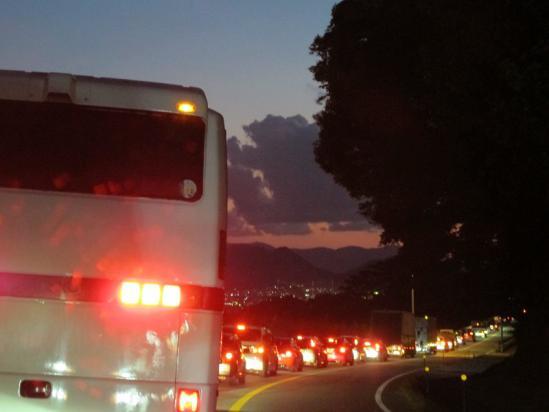 箱根で渋滞