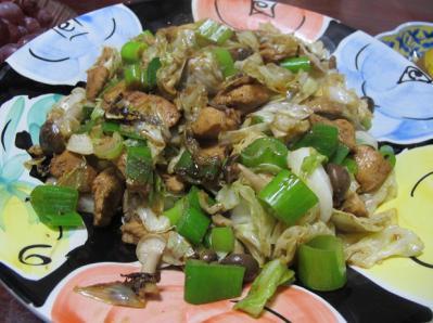 トーエイチキンの野菜炒め