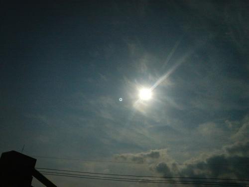 2012年5月21日AM7時32分金環日食