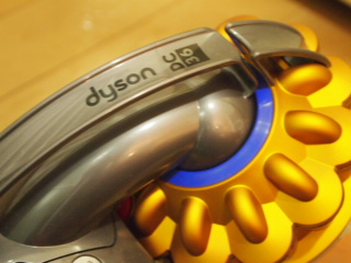 ダイソンの掃除機。
