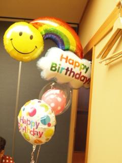 誕生日バルーン。