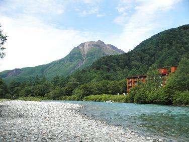 焼岳と当館