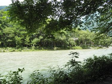 梓川 河童橋付近