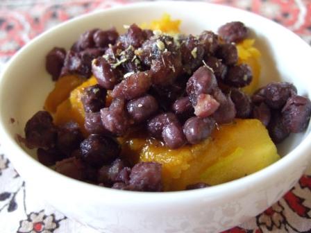 冷凍小豆を使った小豆かぼちゃ