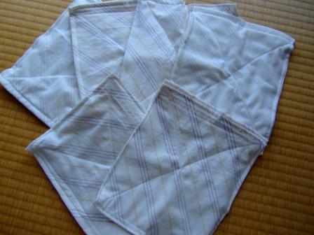 古シーツから雑巾