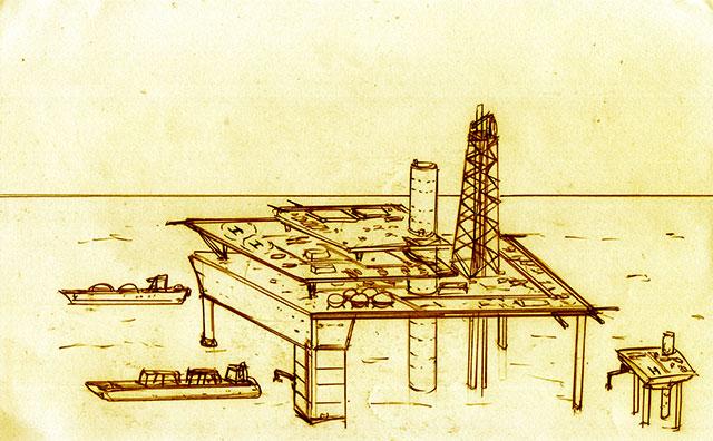 海上油田基地