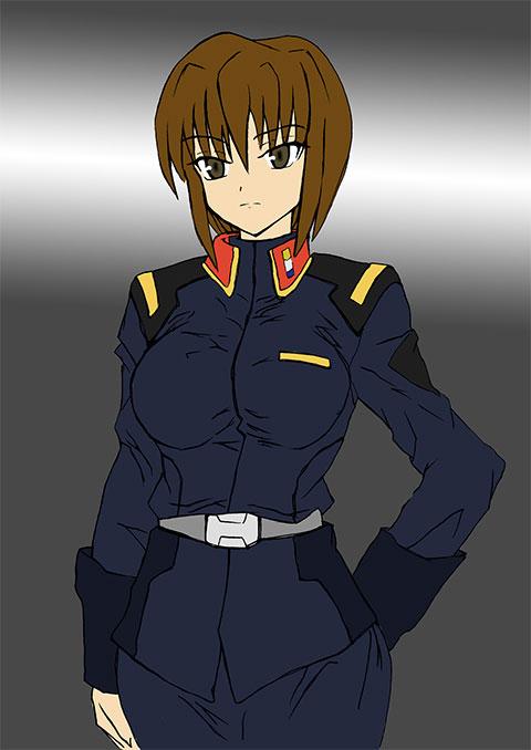 地球連合軍女性将校