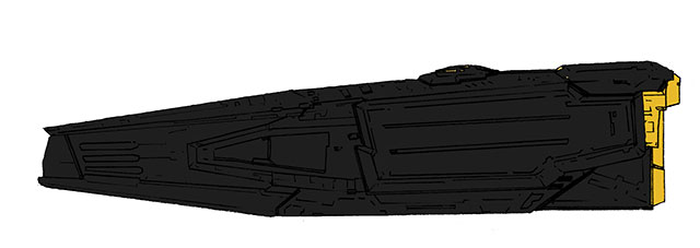 ステルスミサイル駆逐艦黒