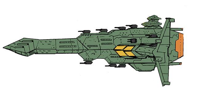 アルバトロス級宇宙戦艦.緑