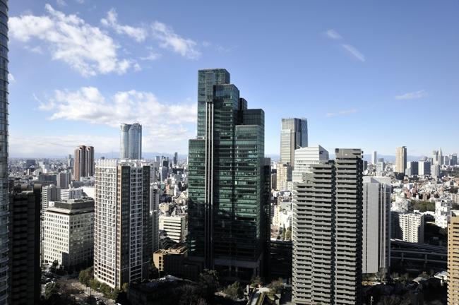 新宿方面の眺め