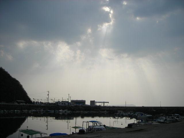 室本港に光りのカーテン