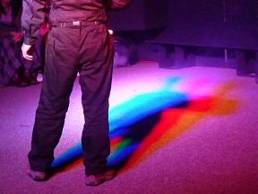 虹の影でしょうか?