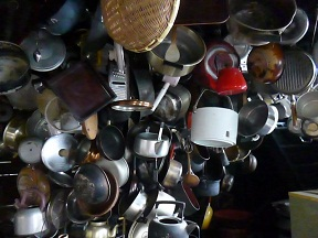 古民家をリノベしたレストランにキッチン道具の手塚+彦坂の作品