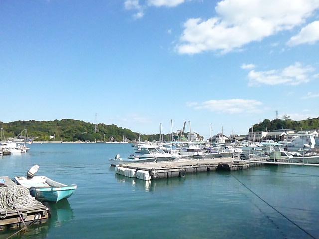 本村の港です 平日の直島ってこんなに静かなんですね