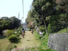 つかの間の空中散歩です 往復で500円です