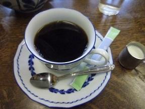 食後のコーヒーは