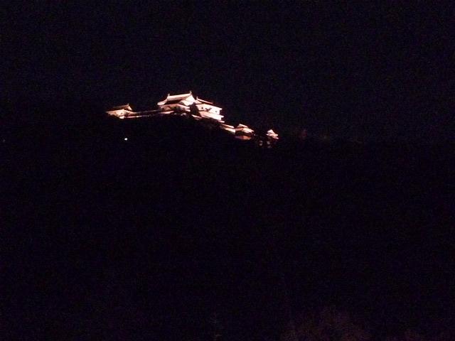 夜の松山城ってこんな風に見えるんですね