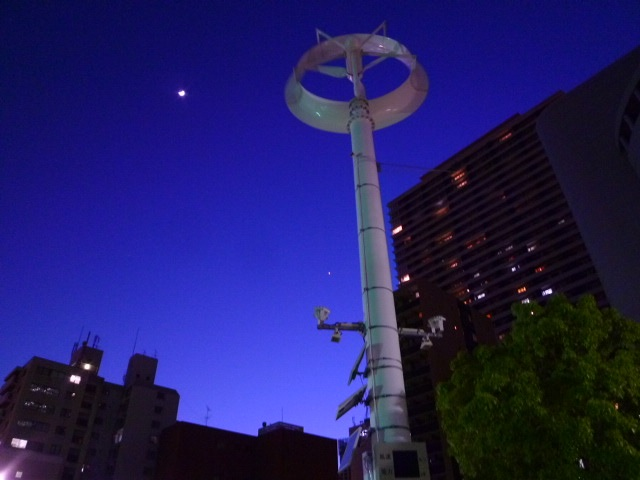 月と金星です