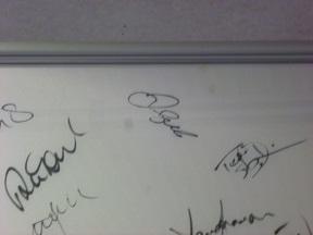 ベッカムのサインです