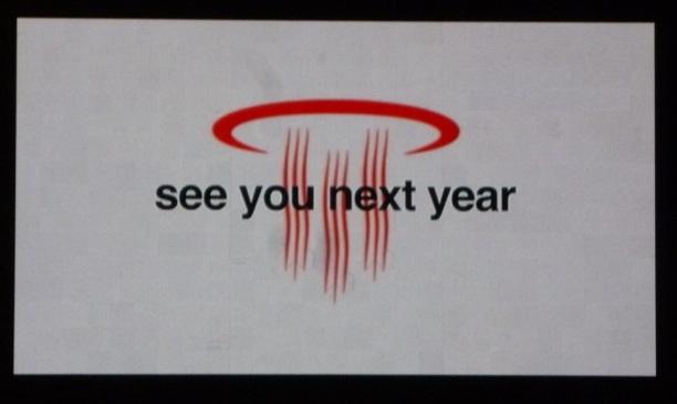 また来年ですね