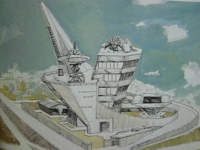 ウルトラマンの科特隊基地 成田亨さんのデザインですね
