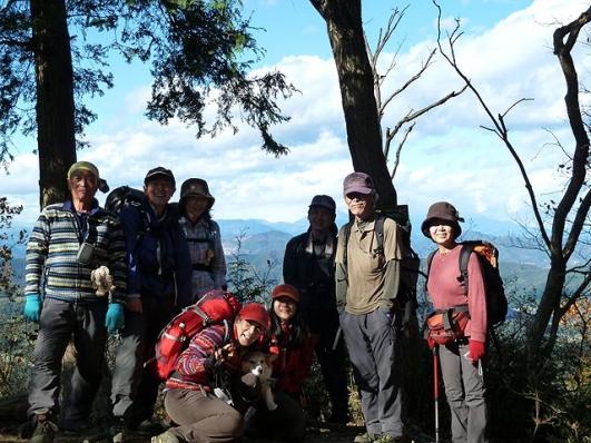 太平山山頂で全員集合
