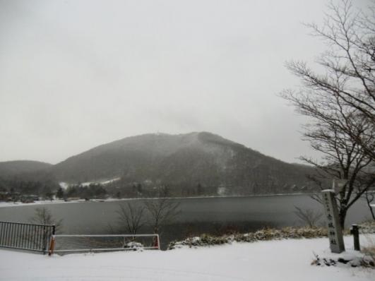 大沼越に地蔵岳