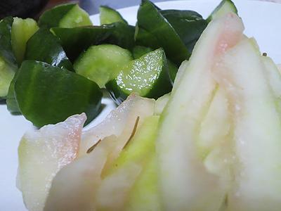 西瓜の皮で作った漬物