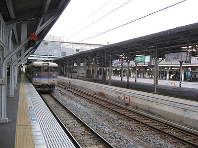 JR山陽本線岡山駅在来線ホーム