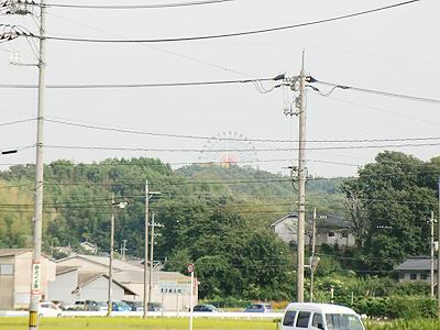 松永から見る「みろくの里」の観覧車