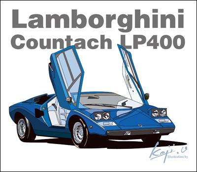 ランボルギーニカウンタックLP400でデザイン