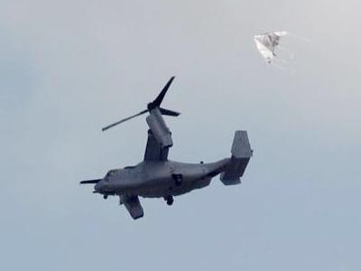 オスプレイの抗議に凧上げ