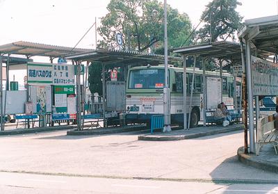 今は無き尾道駅前のバスセンター風景