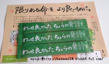 20120910-1ちょらの青汁