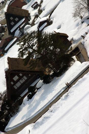 和田家を背景に記念写真