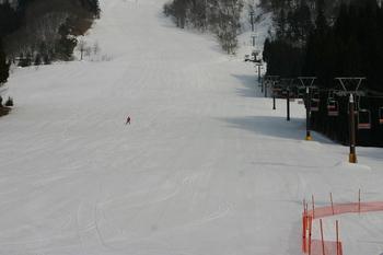 貸切状態の白弓スキー場