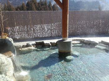 大白川温泉 しらみずの湯 露天風呂に浸かる