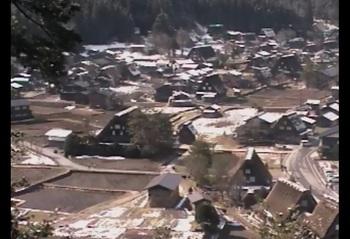 白川郷荻町合掌集落 4月8日 昨晩からの雪で