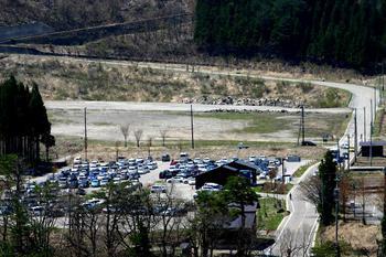 寺尾臨時駐車場 直接 デイリーヤマザキ コンビニ近くに白山スーパー林道入口から直接迎えます