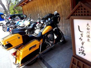 バイクツーリング 大白川温泉 しらみずの湯 白川郷合掌集落を観光してから行こう