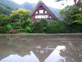 昨年はここで 白川郷 田植え祭り 開催