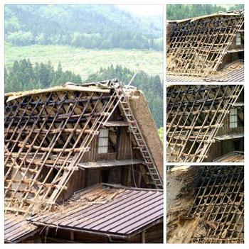 茅葺き屋根の葺き替え⑥