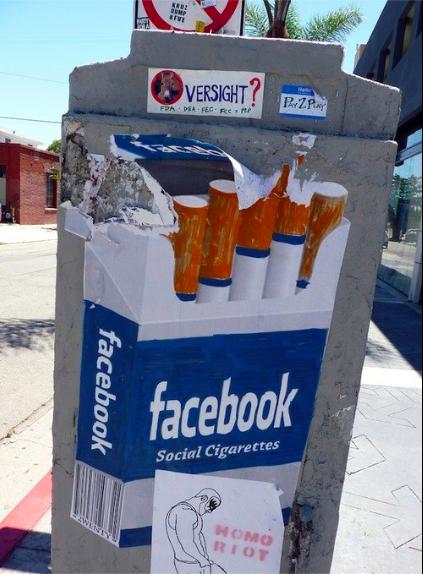 Facebookのタバコ!