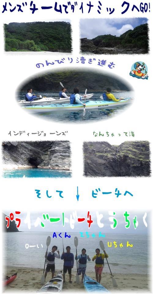 漕ぐ→漕ぐ→漕ぐ