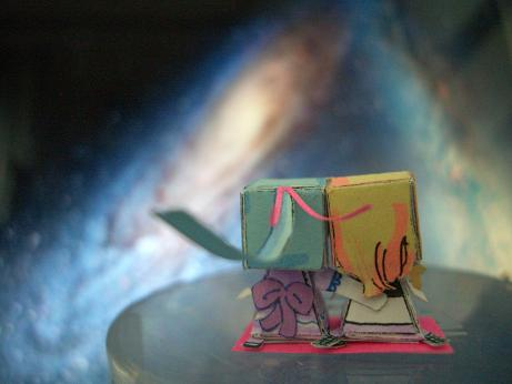 衝突銀河を見るうしろ