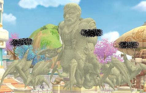 カマキリ4匹の彫像!!